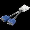 HP DMS-59 TO DUAL VGA 15-PIN Splitter  - 338285-008