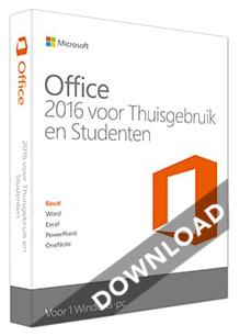 MS Thuisgebruik & Studenten 2016 1-PC