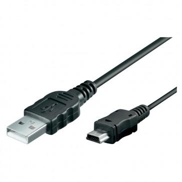 USB naar Mini USB 1 meter - Zwart