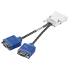 HP DMS-59 TO DUAL VGA 15-PIN Splitter
